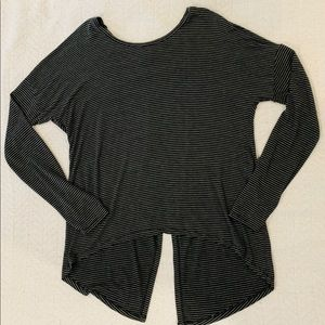 Tops - Black and gray stripped top